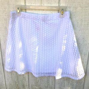 Cute laced mini skirt!